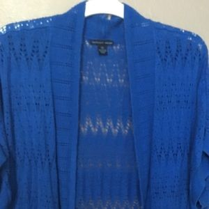 Blue light weight sweater cover up